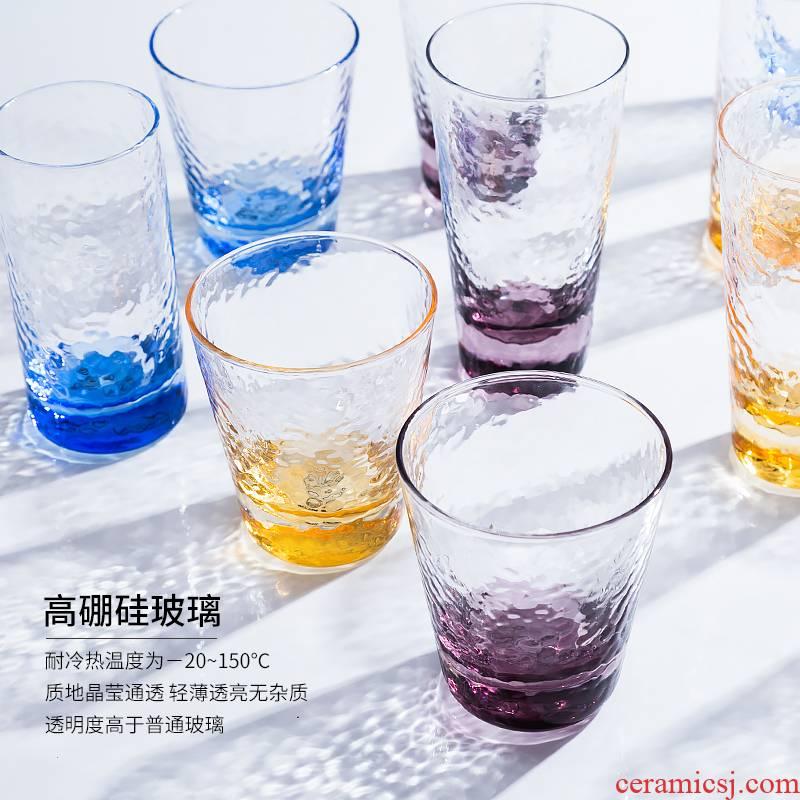 Porcelain soul hammer mu wen the ins glass beer keller suit creative milk glass home breakfast cup of fruit juice cup