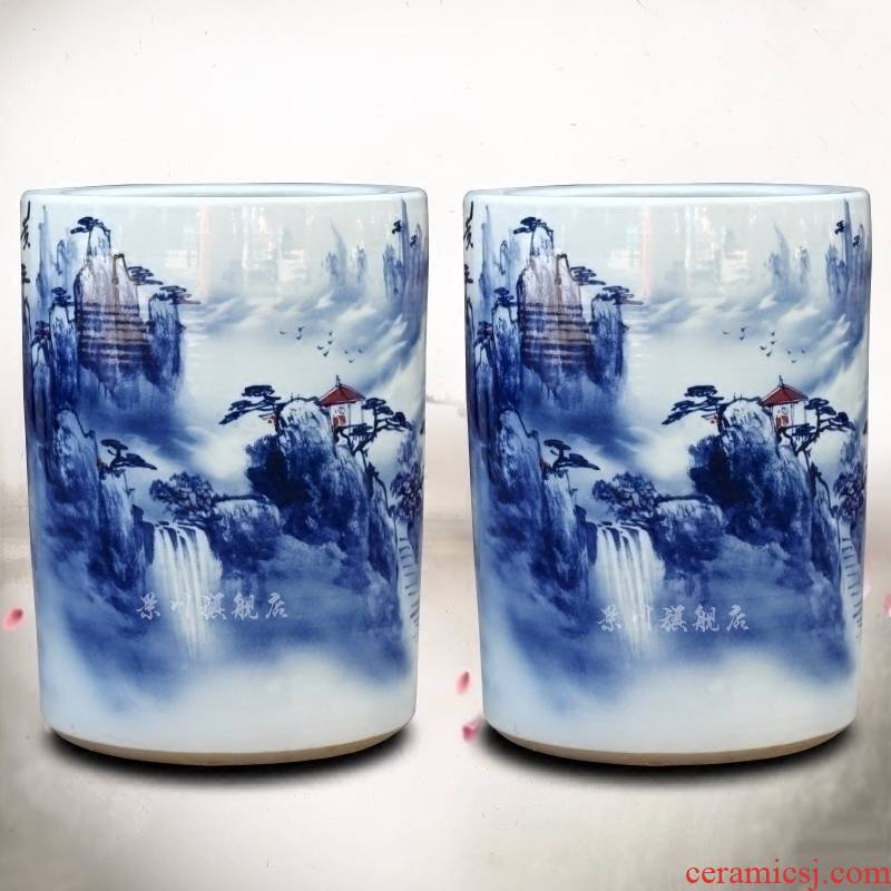 Jingdezhen ceramic huangshan sea of clouds, figure sitting room quiver vase household furnishing articles calligraphy and painting scroll the receive accessory products