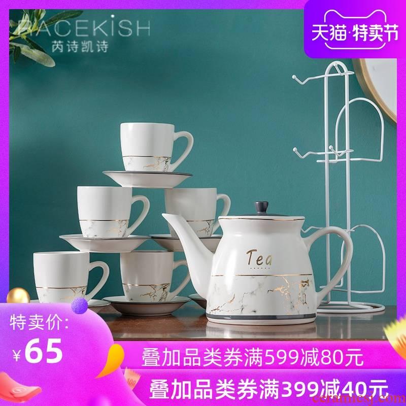 Ceramic large teapot heat - resistant single pot home filtration teapot cold KaiShuiHu large - capacity cold coffee pot, kettle