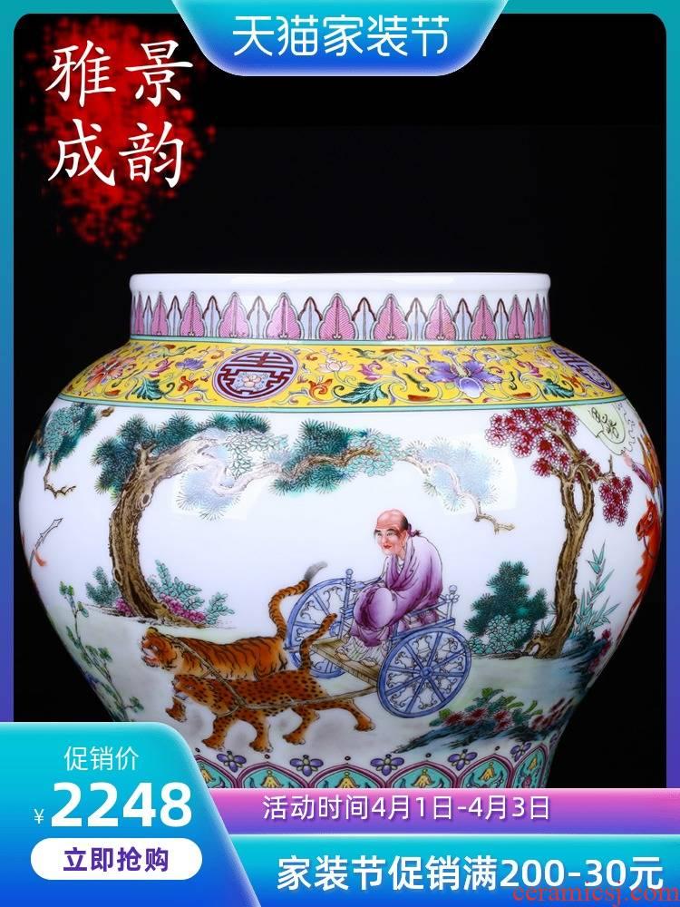 Jingdezhen ceramic porcelain vase wedding gift archaize of new Chinese style restoring ancient ways furnishing articles of handicraft decorative vase