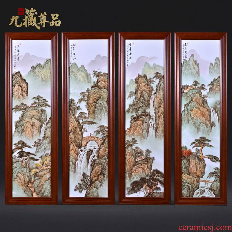 Jingdezhen ceramics dong - Ming li hand - made famille rose porcelain plate painting landscapes Chinese style household decoration crafts