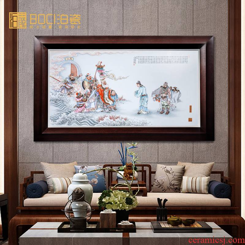 Jingdezhen ceramic He Mingzan LiuYiChuan porcelain plate painting book study porch background wall decorative painter in furnishing articles