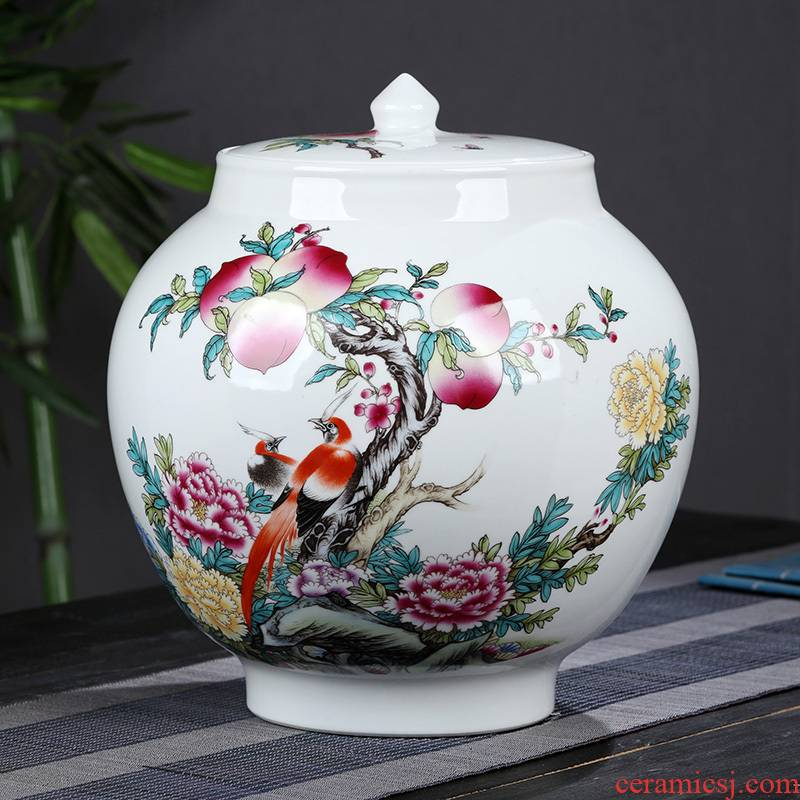Jingdezhen ceramic tea pu - erh tea loose tea moisture dry cargo tank size 5 jins installed sealed as cans packaging the who was orange