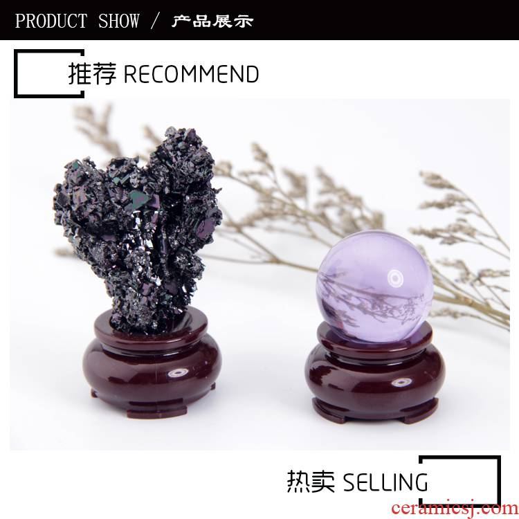 Jin hao imitation wood, crystal ball furnishing articles wind gourd tap water polo base egg carving handicraft spherical
