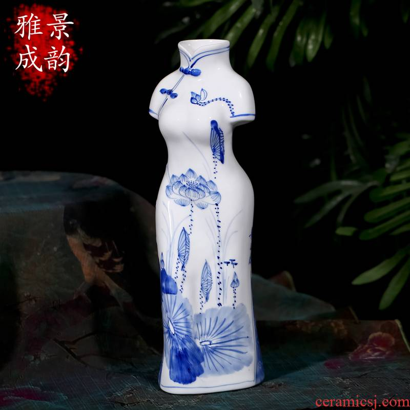Jingdezhen ceramic creative new home furnishing articles household act the role ofing is tasted figure sitting room decoration decoration handicraft furnishing articles characteristics