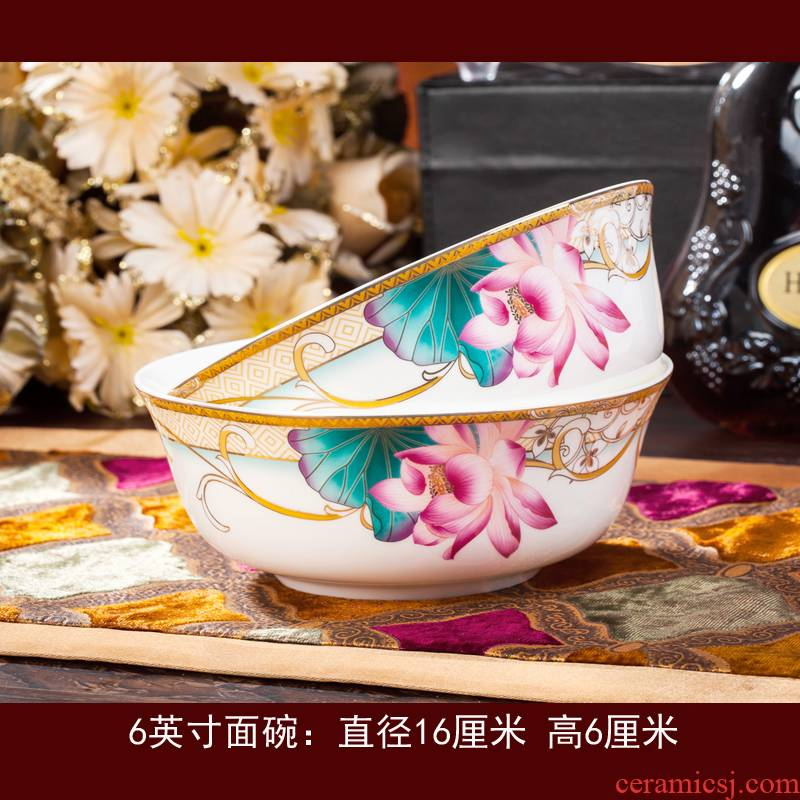 The jingdezhen ceramic ipads China tableware suit dishes home dishes chopsticks dishes free collocation