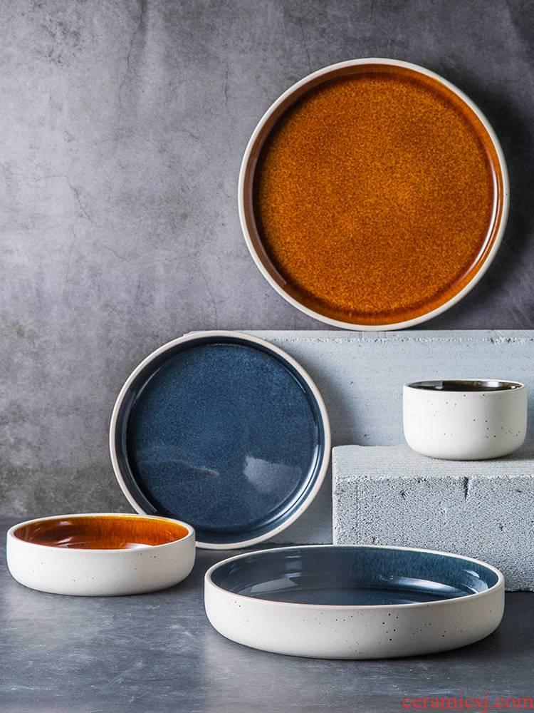 Nordic ins crockery bowl dish dish bowl dish dish good soup plate with single fruit salad bowl