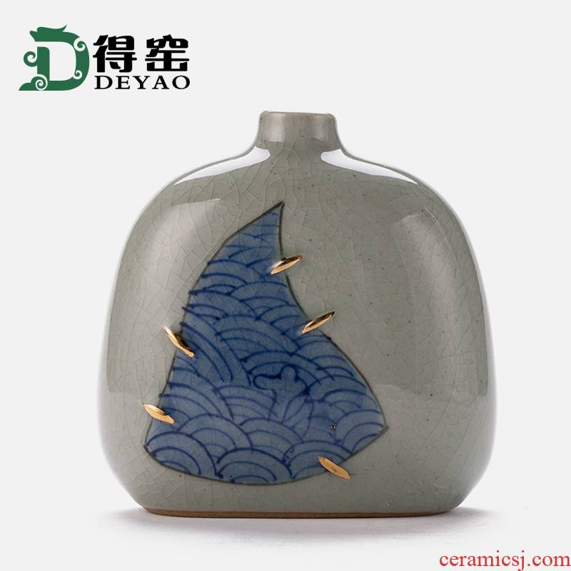 Shadow enjoy flower implement archaize of blue and white porcelain vases, flower arrangement, zen home sitting room adornment DY