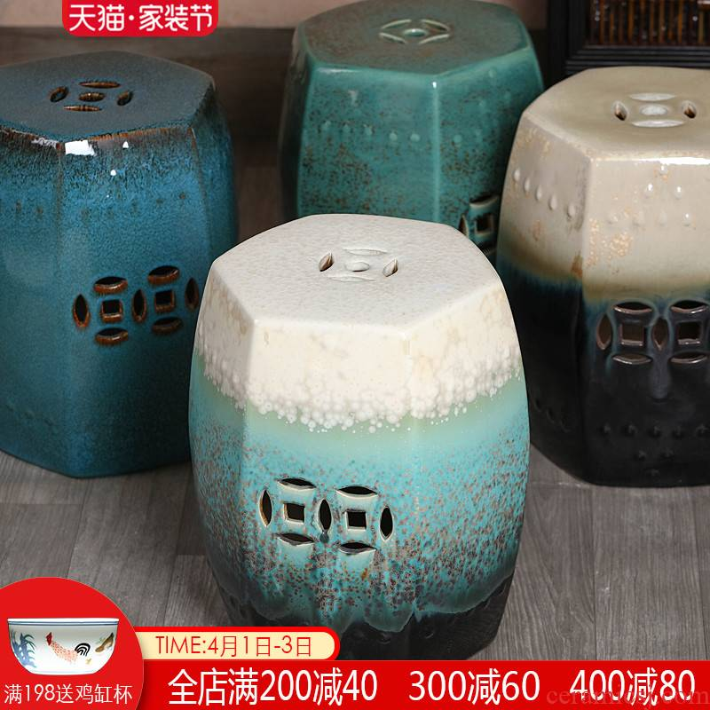 Jingdezhen ceramic drum who the new Chinese style villa hotel decoration between example pier sit mound in shoes who toilet who
