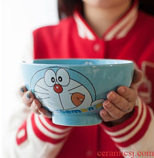 Jingdezhen ceramic creative cartoon express 7 inch fruit pull rainbow such as bowl noodles in soup bowl big rainbow such as bowl dessert salad bowl