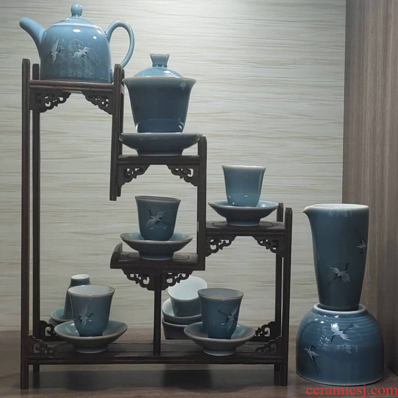 Jingdezhen porcelain tea set. 980