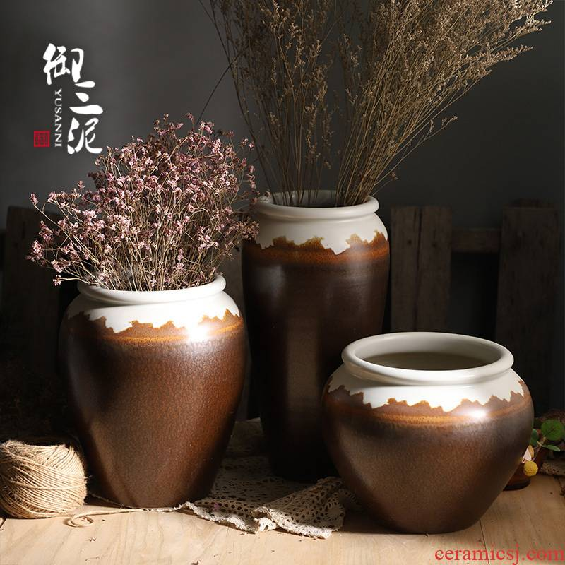 Jingdezhen ceramic new Chinese vase furnishing articles sitting room put lucky bamboo hydroponic fleshy potted flower pot