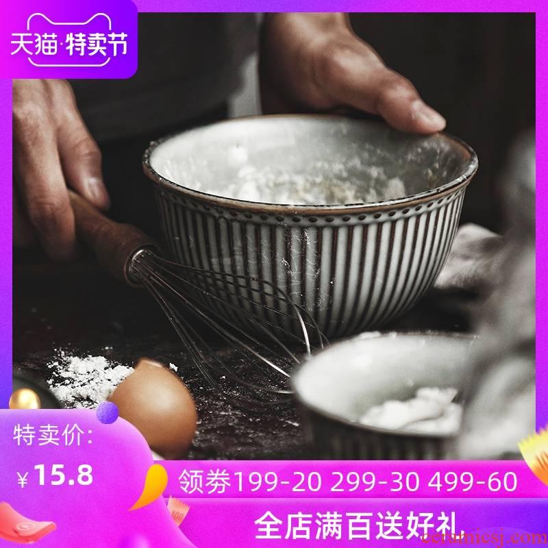 Lototo French ceramic tableware rainbow such use creative household eat bowl bowl dessert salad bowl retro rainbow such use