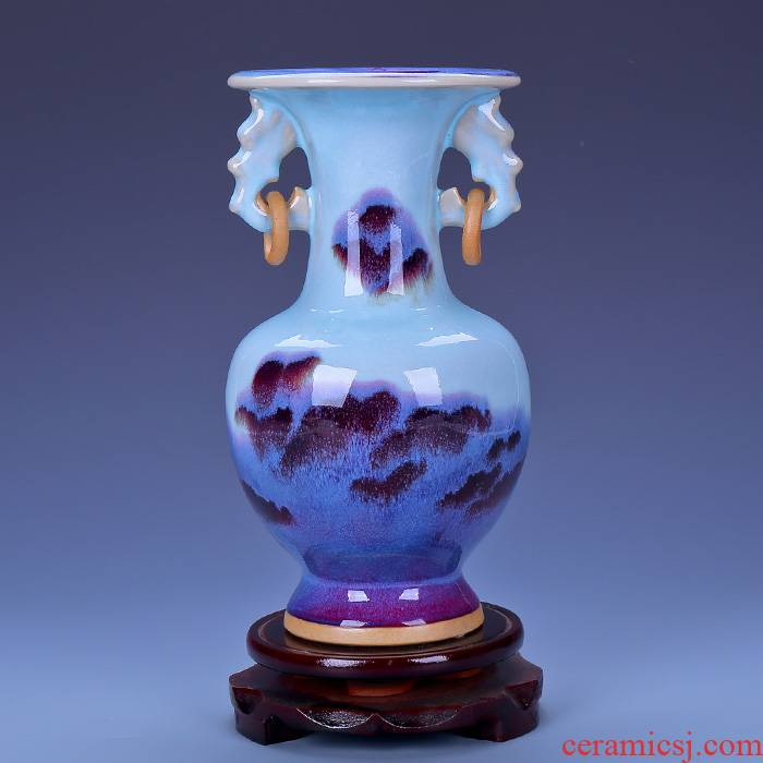 Jingdezhen ceramics antique vase household of Chinese style living room rich ancient frame furnishing articles ice flower arranging porcelain decoration