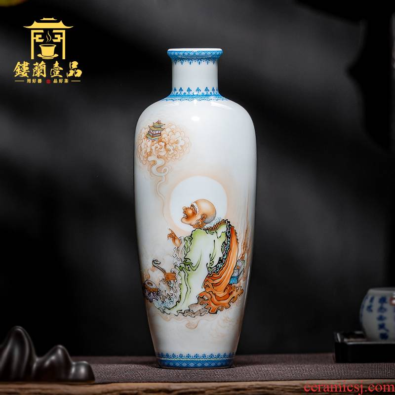 Jingdezhen ceramics hand - made dharma long eyebrow honour person vase furnishing articles furnishing articles sitting room flower arranging home decoration collection