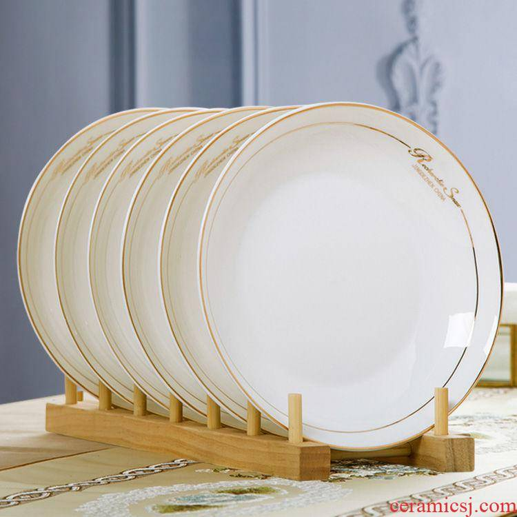 4/6 of a pack of jingdezhen ceramic dishes dishes 8 inches 0 shades the steaming plate household dish FanPan Chinese style