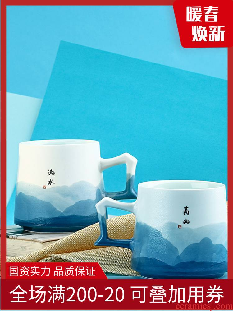 Jingdezhen TaoXiChuan ceramic cup tea cups with manual drawing keller gift box