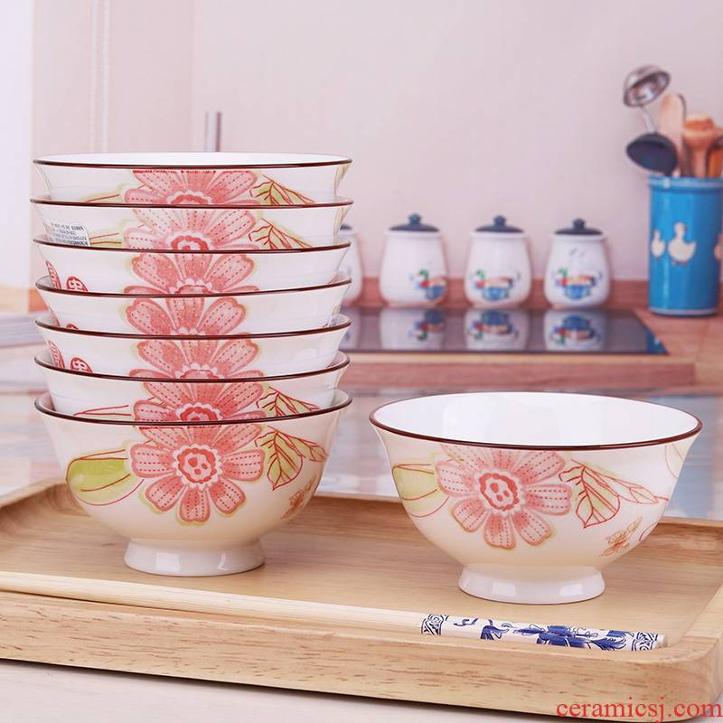 "The microwave home for 10 sets job 5 ""special Chinese high ceramic bowl chopsticks soup bowl"