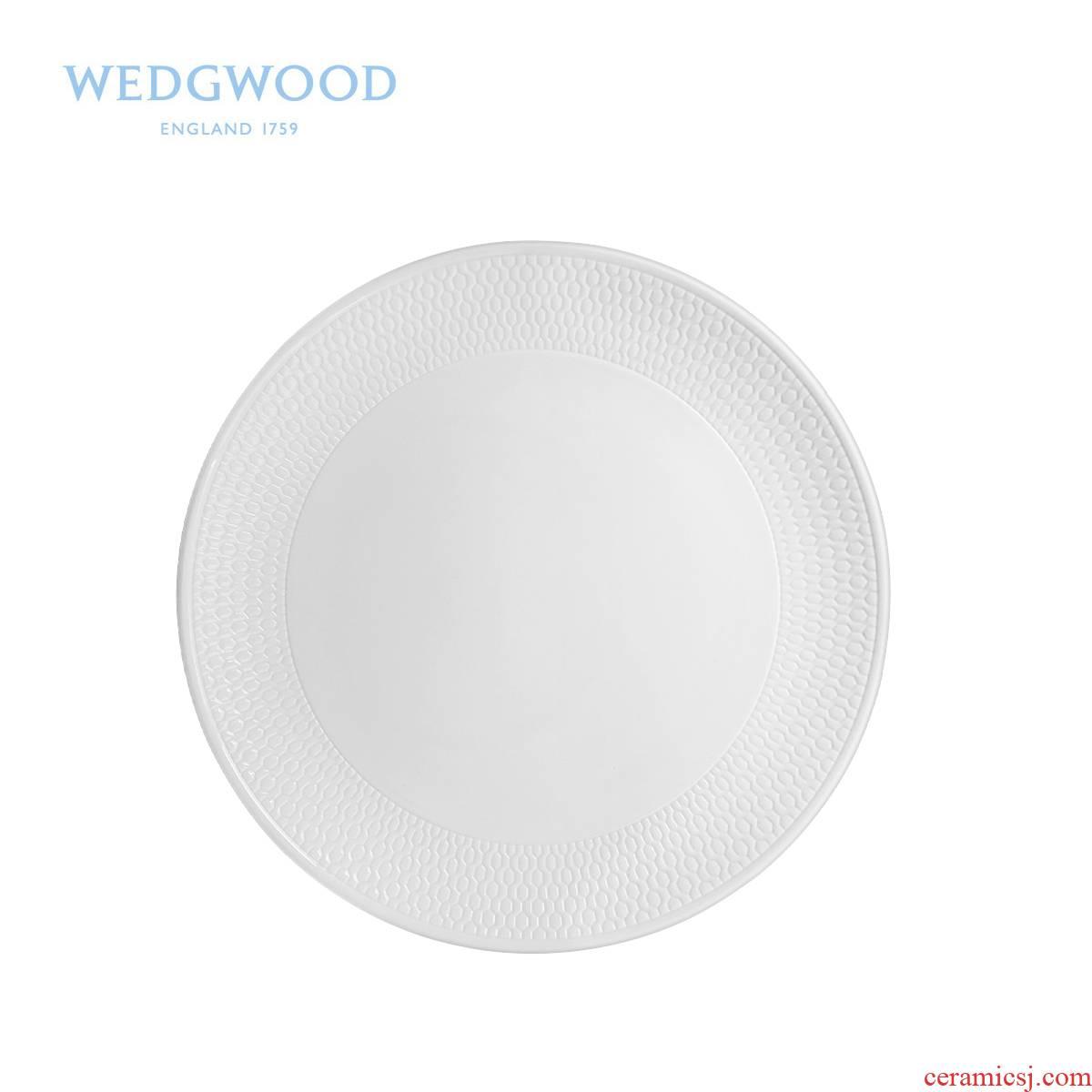 Wedgwood waterford Wedgwood Gio honeycomb series ipads China 20.5 cm flat single pure color cold dish dish
