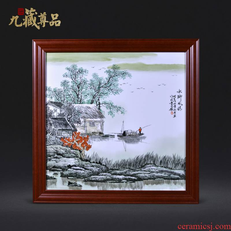 Jingdezhen ceramics Liu Shuwu hand - made of typical Chinese style household crafts decoration porcelain plate painting