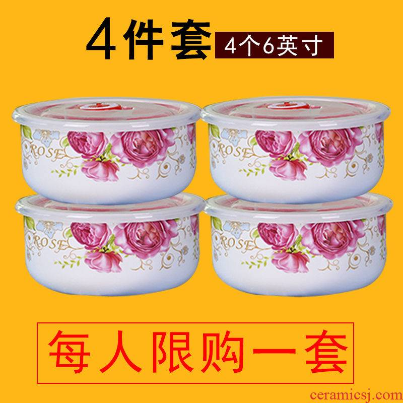 Many optional crisper refrigerator storage boxed set with ceramic seal preservation bowl bowl with cover with microwave