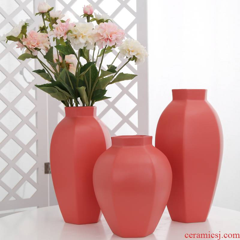 Jingdezhen ceramic vases, furnishing articles ins wind decorations sitting room porch simulation flower arranging flowers home decoration
