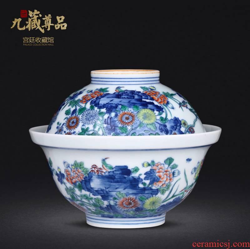 Jingdezhen ceramics manual jobs hand - made color porcelain dou son hen grain home daily tureen furnishing articles