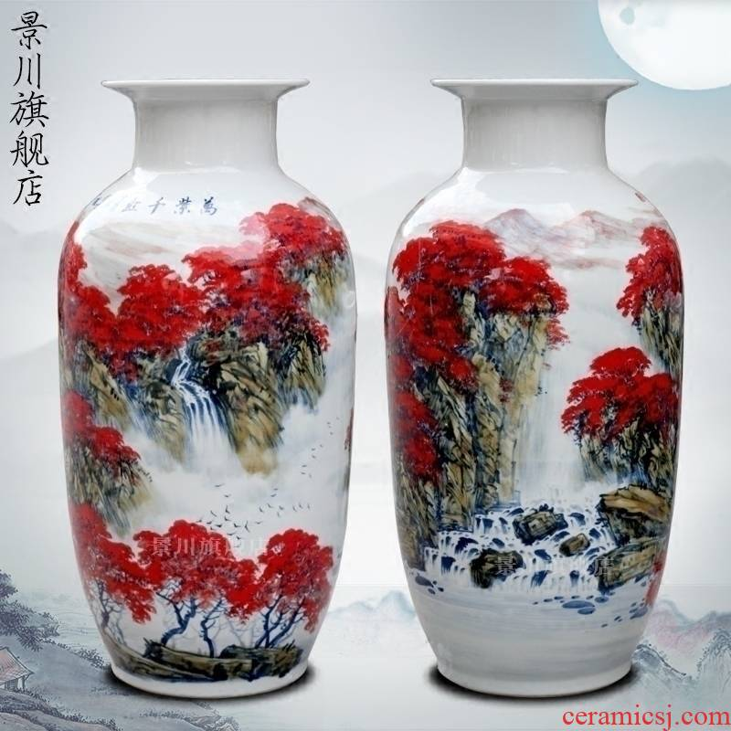 Hand made landscapes full ceramic vase landing home sitting room study office hotel place adorn article