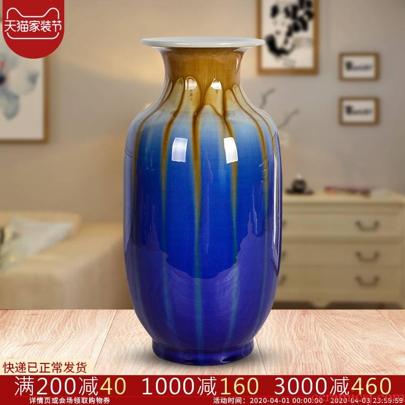 Cb88 flower vase Chinese jingdezhen ceramics up crack dried flowers, sitting room, home furnishing articles