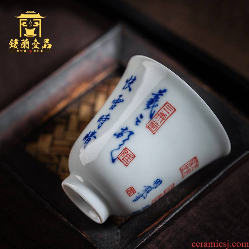 All hand - made porcelain of jingdezhen ceramics fine post at the snow tea masters cup personal kung fu tea machine single cups of tea cups