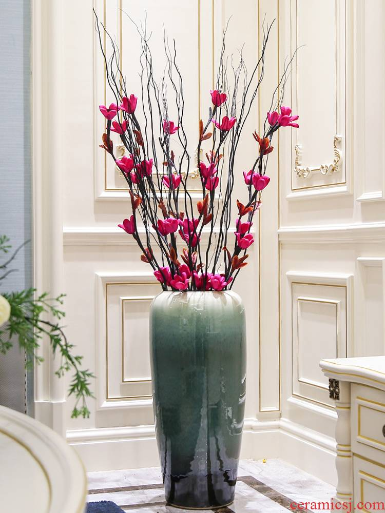 Jingdezhen new Chinese style living room of large vases, ceramic flower arranging, contracted and I creative dried flower adornment furnishing articles