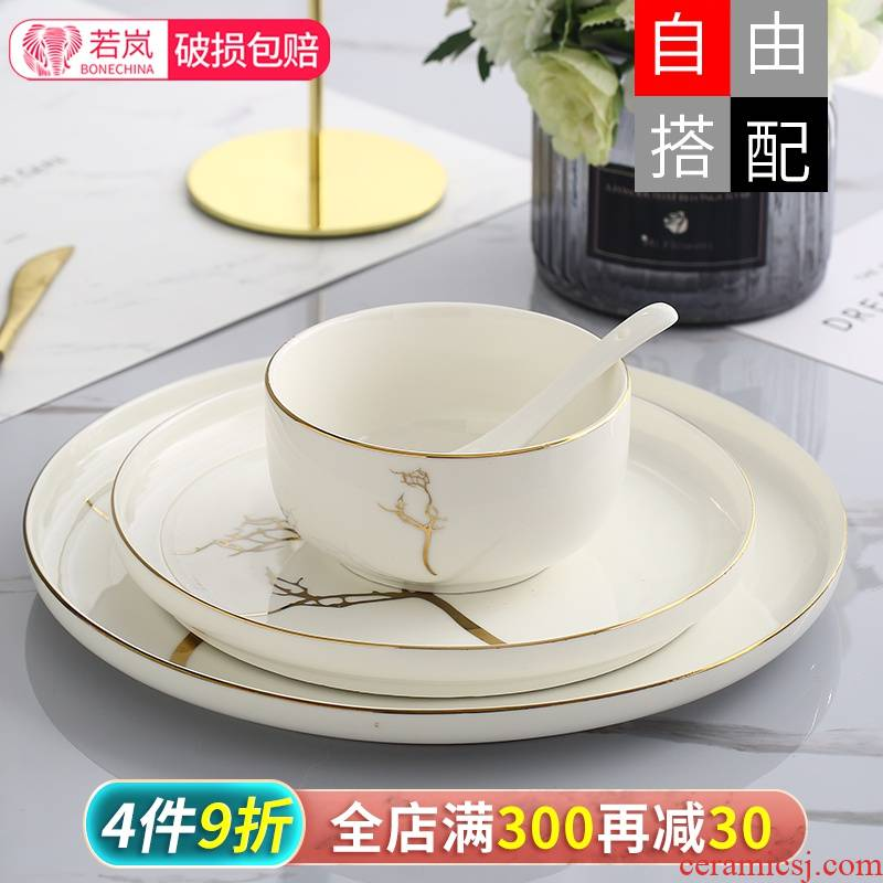 American household tableware always eat thickening ceramic disc large square plate plate surface soup bowl creative fuels the tableware