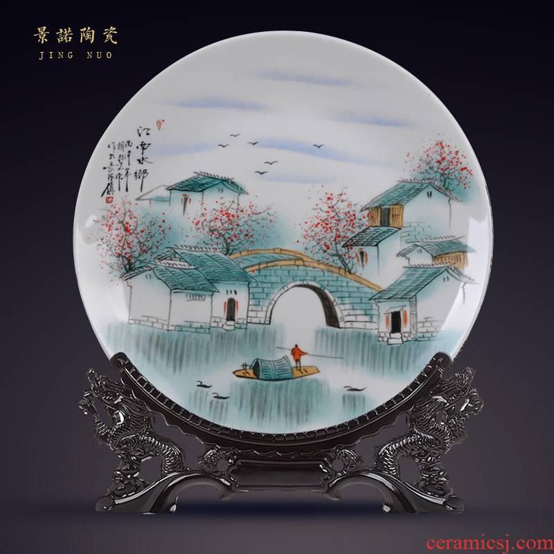 "Scene, hang dish jingdezhen ceramics decoration plate of hand - made ""jiangnan"" sat dish handicraft furnishing articles"