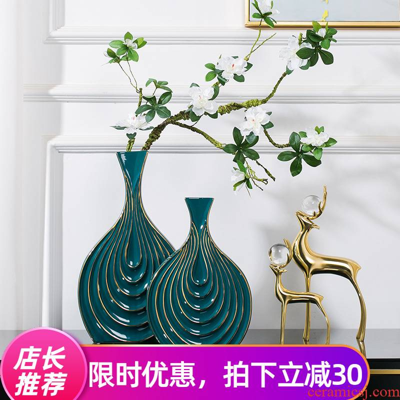 New Chinese style ceramic vases, dried flowers sitting room place American TV ark, light key-2 luxury flower arrangement China creative household act the role ofing is tasted