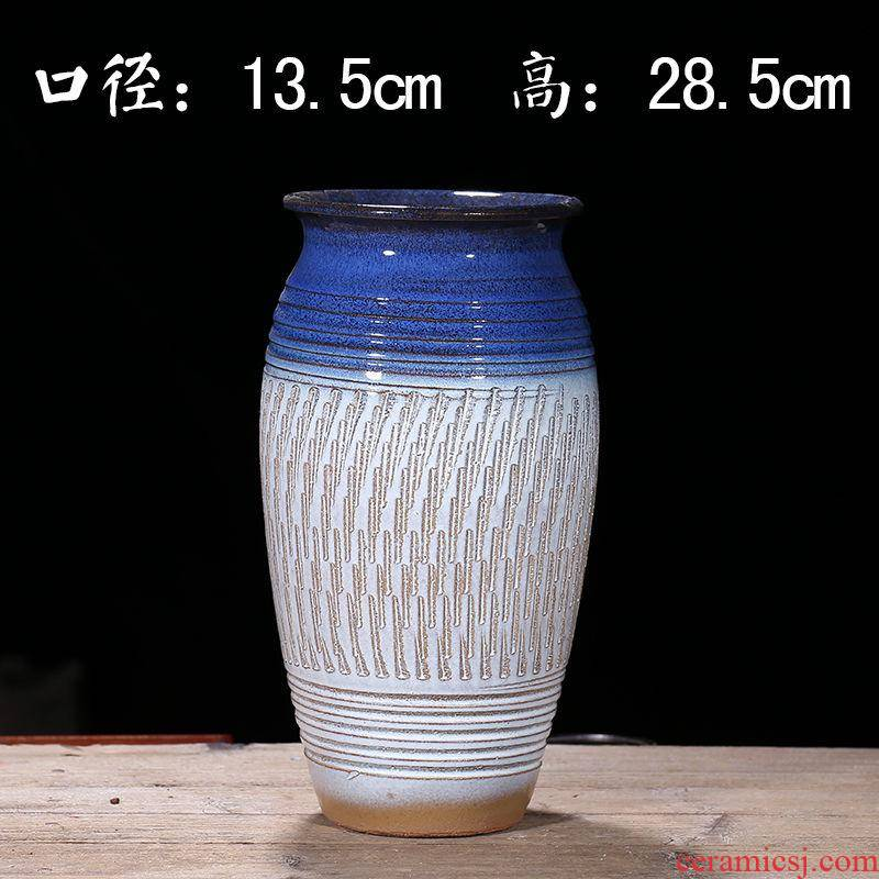 Manual promotion coarse some ceramic porcelain flowerpot oversized purple sand flowerpot breathable POTS much meat basin high master zhuang zi