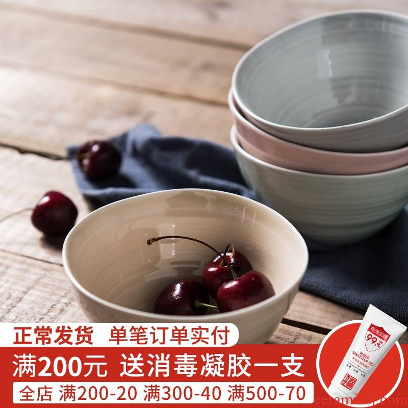 Jian Lin household contracted ceramic eat rice bowl noodles in soup bowl of creative move express tableware andaman