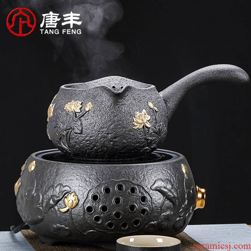 Tang Feng clay POTS to boil tea machine filter side cook the casing outside the'm ceramic teapot tea stove heating household utensils suits for
