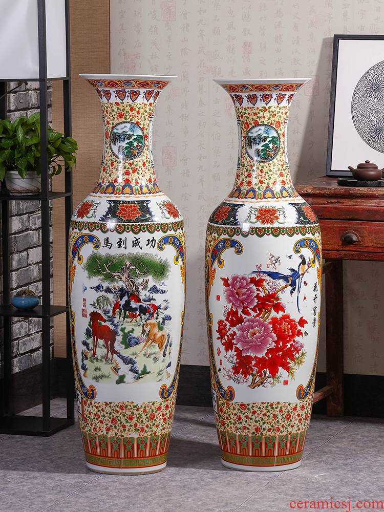 Jingdezhen ceramics vase of large sitting room place decoration decoration of Chinese style large vases, ceramic furnishing articles