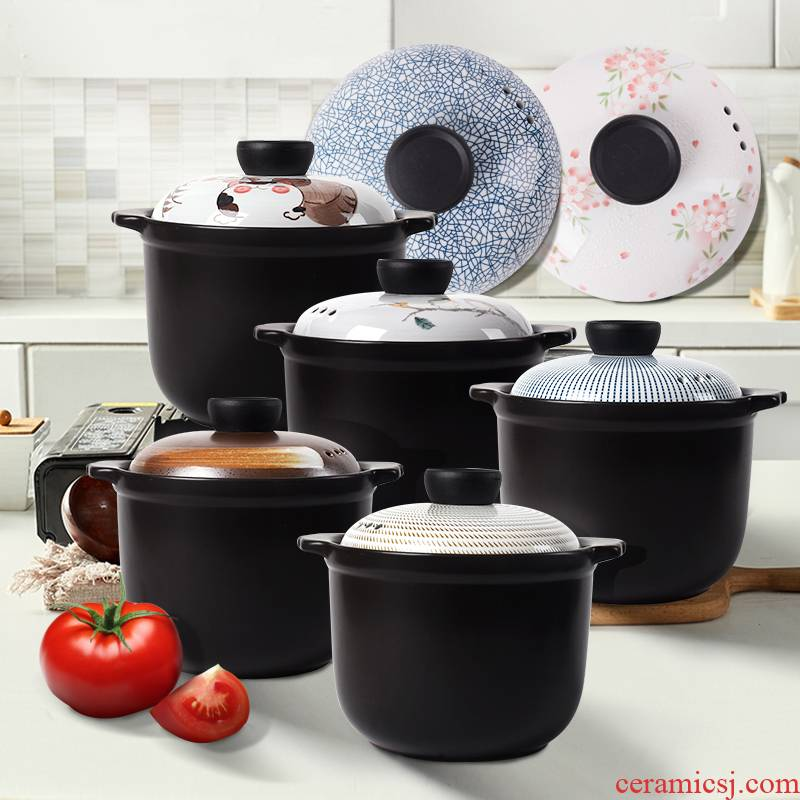 Casserole household Japanese ceramic Casserole stew stew soup small soup rice casseroles gas buner for gas