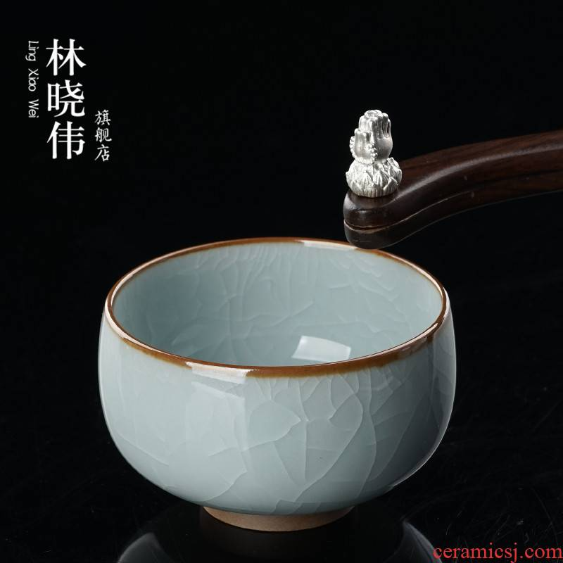 With silver your up expressions using CPU purple iron foot sample tea cup master cup single CPU ruzhou your porcelain pieces of personal cup gift