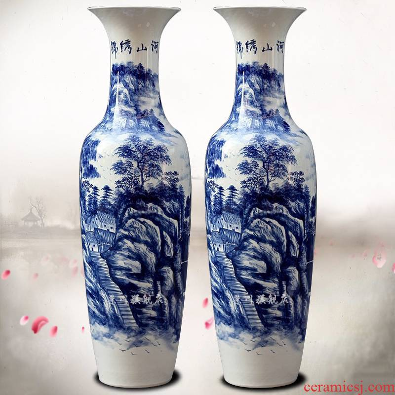 Jingdezhen porcelain ceramics hand - made splendid sunvo large vases, sitting room of Chinese style household furnishing articles of handicraft