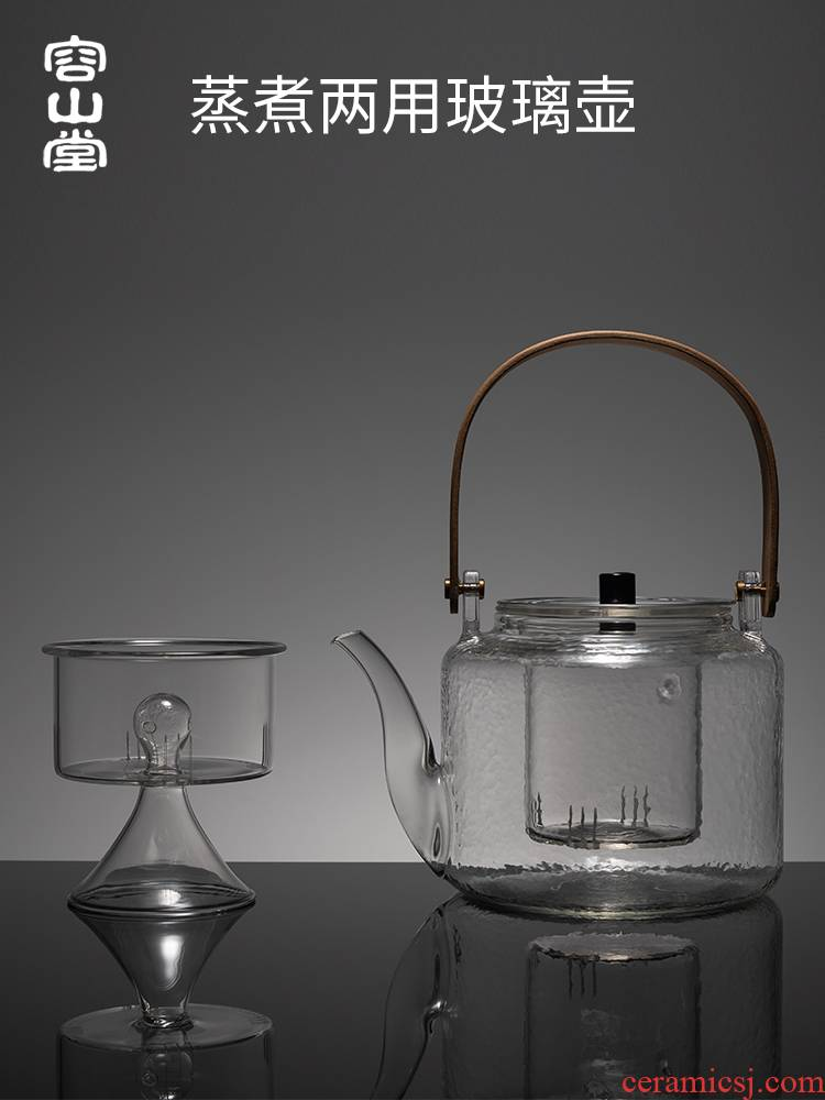 RongShan hall Pyrex cooking steaming tea is tea kettle black tea, the tea, the electric TaoLu pot of tea stove large girder