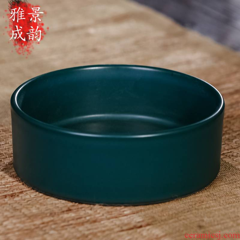 Jingdezhen ceramic furnishing articles writing brush washer from household act the role ofing is tasted archaize ceramic creative decorations sitting room decoration arts and crafts