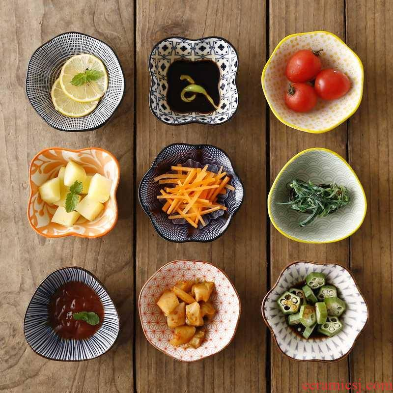 Four pack flavor dish of ceramic tableware creative web celebrity dip sauce dish dish of soy sauce bowl trill with small dishes