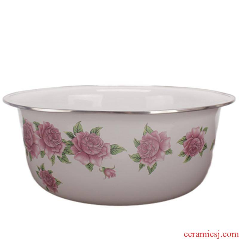 Difference of the freight risk 】 【 basin suit soup kitchen home dozen dense eggs and xiancai basins enamel basin to mix cold dish bowl