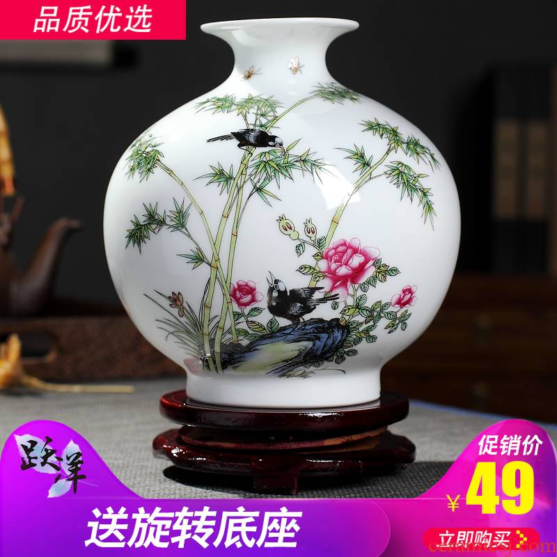 Creative vase furnishing articles sitting room flower arrangement of jingdezhen ceramics dried flowers white ins small wind home decoration arts and crafts