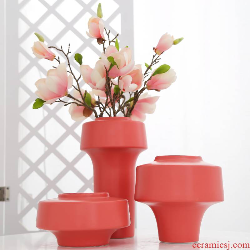 Jingdezhen ceramic creative decorations sitting room balcony office home furnishing articles vase simulation flowers, artificial flowers