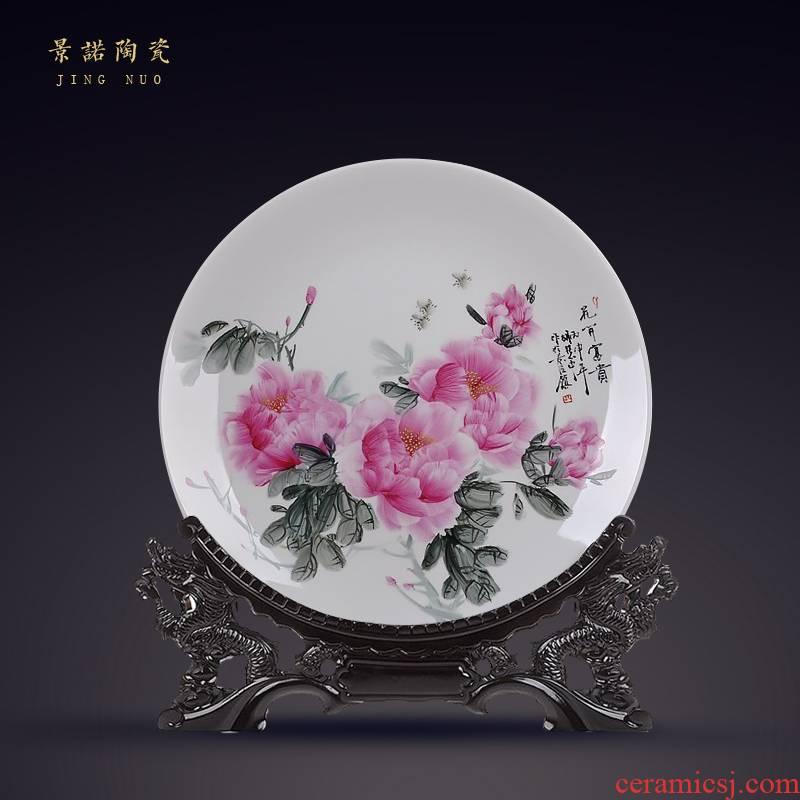 "Scene, hang dish jingdezhen ceramics decoration plate of hand - made sat dish handicraft furnishing articles ""blooming flowers"""