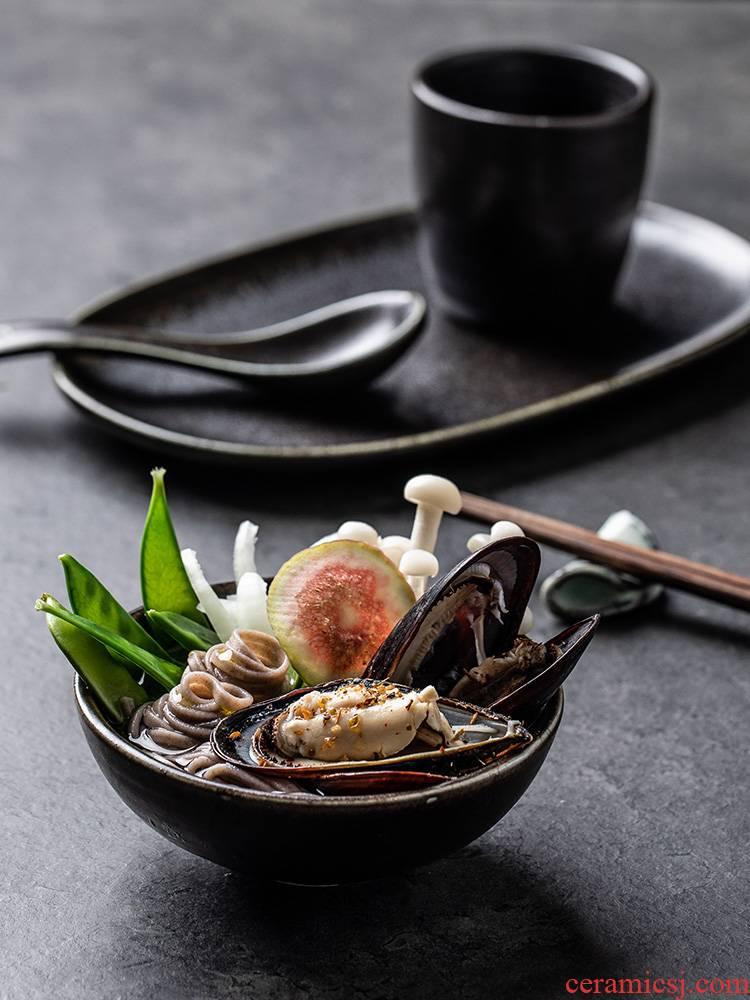 Flowers of European fish eat salt dish sushi plate strip plate restoring ancient ways of household food dish restaurants western - style food plate ceramic disk