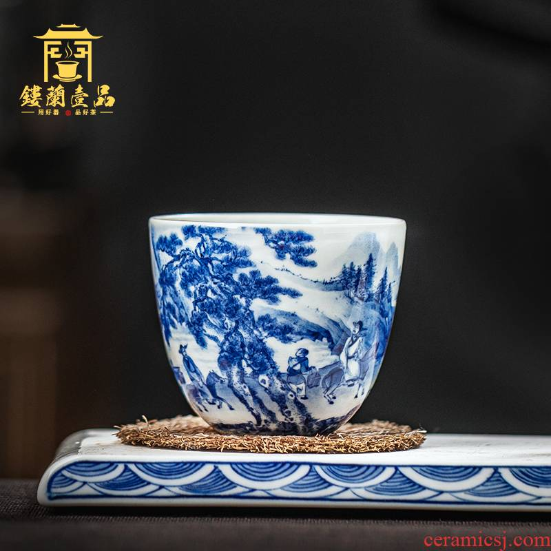All hand - made porcelain of jingdezhen ceramics panasonic always masters cup kung fu tea cups single cup sample tea cup
